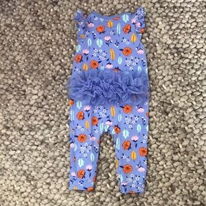 Baby Cat & Jack Ruffle Floral Print One-Piece